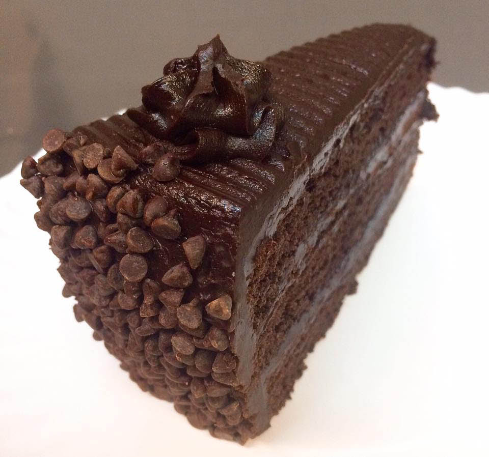 Chocolate and more chocolate cake at American Pie Pizza