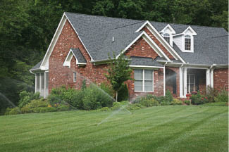 photo of home with sprinklers from American Lawn Sprinkler in Dryden, MI