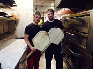 The pizza men from Ameti's Pizza in Pequannock NJ