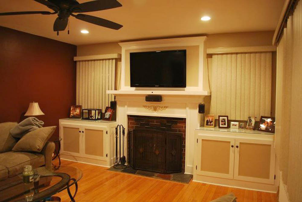Wall Mount TV, Recess Lighting, Ceiling Fan installed by Amp'd Up Electrical in Vernon NJ