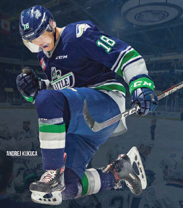 Andrej Kukuca - ShoWare Center in Kent, WA - Seattle Thunderbirds hockey team