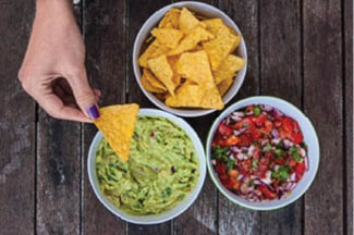 photo of guacamole and chips from Angelina's Mexican Restaurant in Southgate, MI and Allen Park, MI