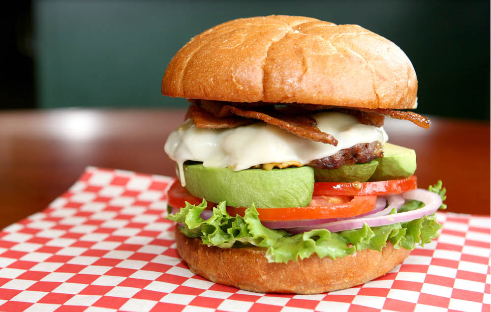 California Burger from Angus Burger in Snohomish, WA - burger restaurants in Snohomish, WA - dining in Snohomish, WA - dining coupons near me - restaurant coupons near me