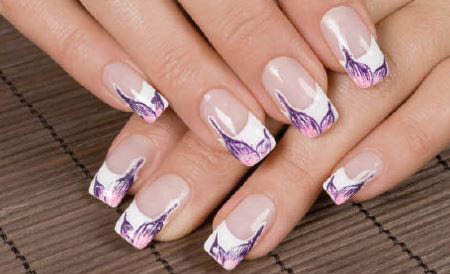 photo of embellished acrylic nails from Annie's Nail Salon in Madison Heights, MI