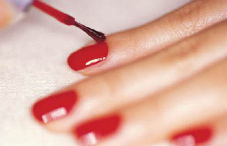 photo of red nail polish manicure at Annie's Nail Salon in Madison Heights, MI