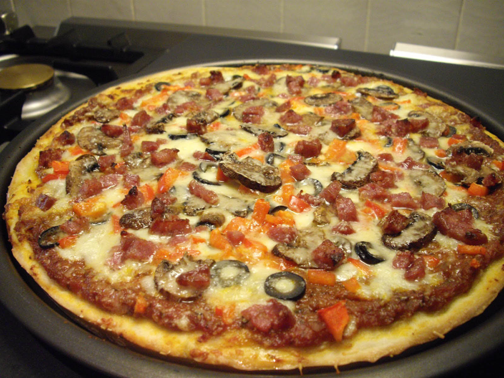 Fresh Italian sausage pizzas can be enjoyed at Anthony's Pizza & Pasta