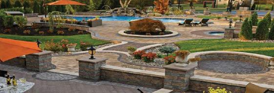 pavers, walkway, fountain