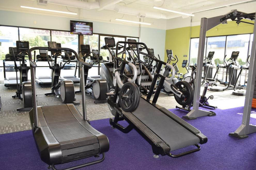 Cardio equipment and strength training and personal training at Anytime Fitness - Lynnwood, WA - Lynnwood health clubs near me - Lynnwood gyms - fitness coupons near me