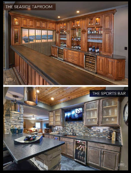 seaside taproom, sports bar, custom, cabinetry, haas, quality