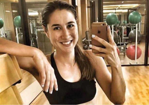 Ashley Undercuffler in the gym