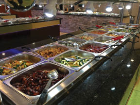 Clean and fresh buffet menu and kids' foods too