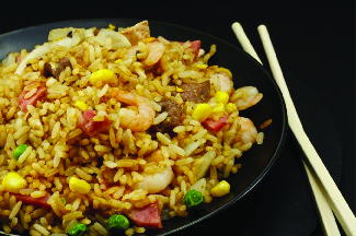 Local favorite dish - shrimp fried rice