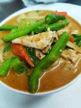 red curry chicken from Asian Thai 2 Go Dallas Texas