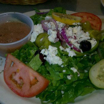 Picture of a Greek Salad from Athens Family Restaurant in Milwaukee, WI.