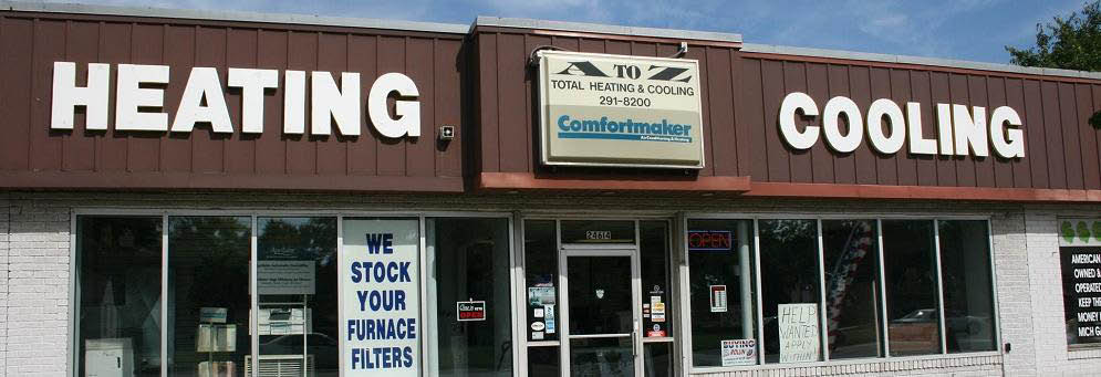 photo of exterior of A to Z Total Heating & Cooling in Dearborn Heights, MI