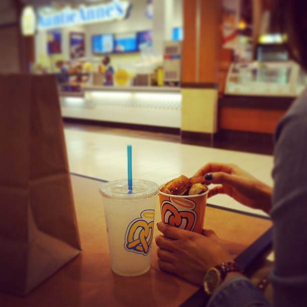 Auntie Anne's lemonades in Mayfair Mall