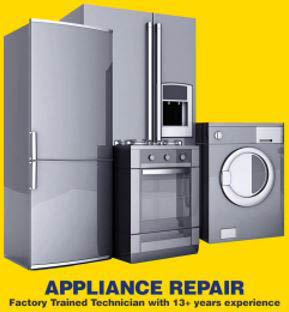 We service a variety of home appliances, including fridges and washers.