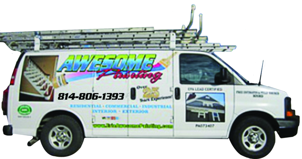 awesome painting & services company truck