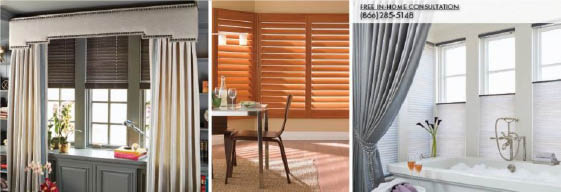 Budget Blinds offers all types of window treatments banner