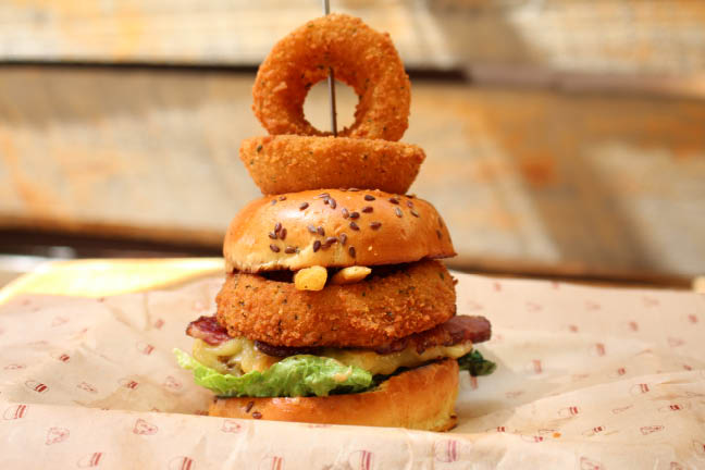 Organic Bareburger Bacon Cheese Burger