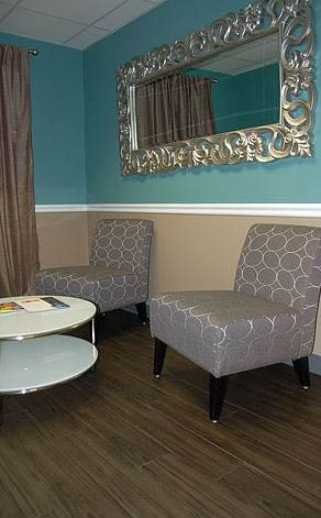 photo of waiting area of b. bare laser hair removal in Royal Oak, MI