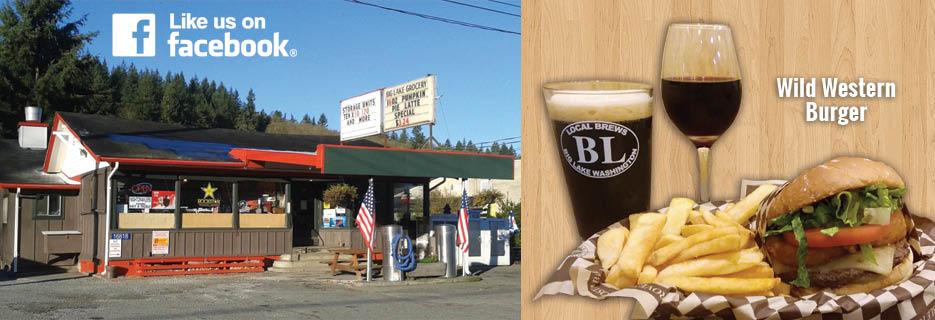 Big Lake Grocery Beer and Wine Garden Burgers