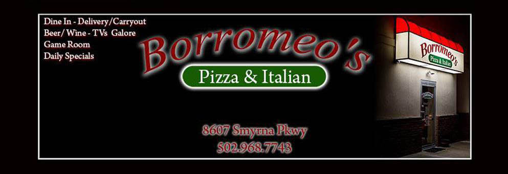 BORROMEO'S PIZZA AND ITALIAN Pasta louisville pizza