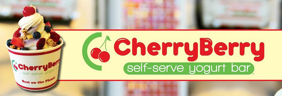Banner - Cherry Berry Self-Serve Yogurt Bar