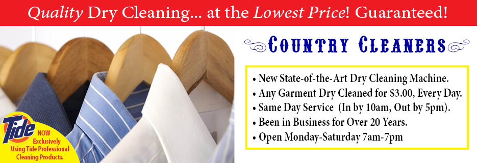 Country Cleaners Dry Cleaning, Layton UT