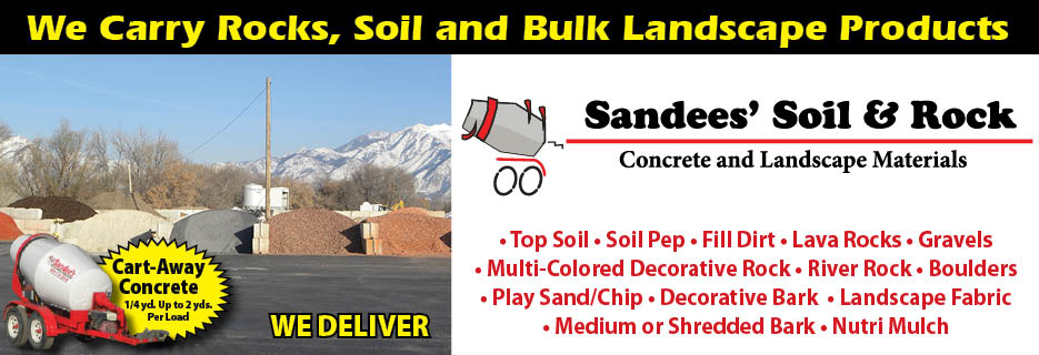 Sandees' Soil & Rock - Concrete & Landscape Materials, Logo