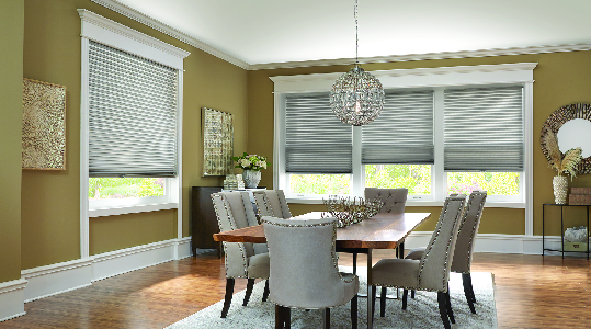 Vinyl blinds for dining room window treatments