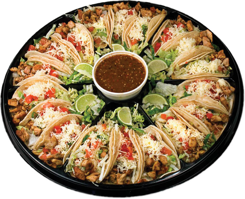 Try our Baby Burrito Taco Tray for your next party.