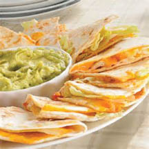 Cheesy quesadillas are a great start for lunch or dinner