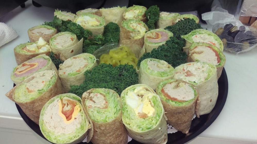 Assorted wraps prepared by Bagel City Grille in Morris Plains NJ