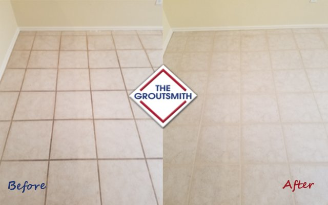 Before & After Grout Treatment