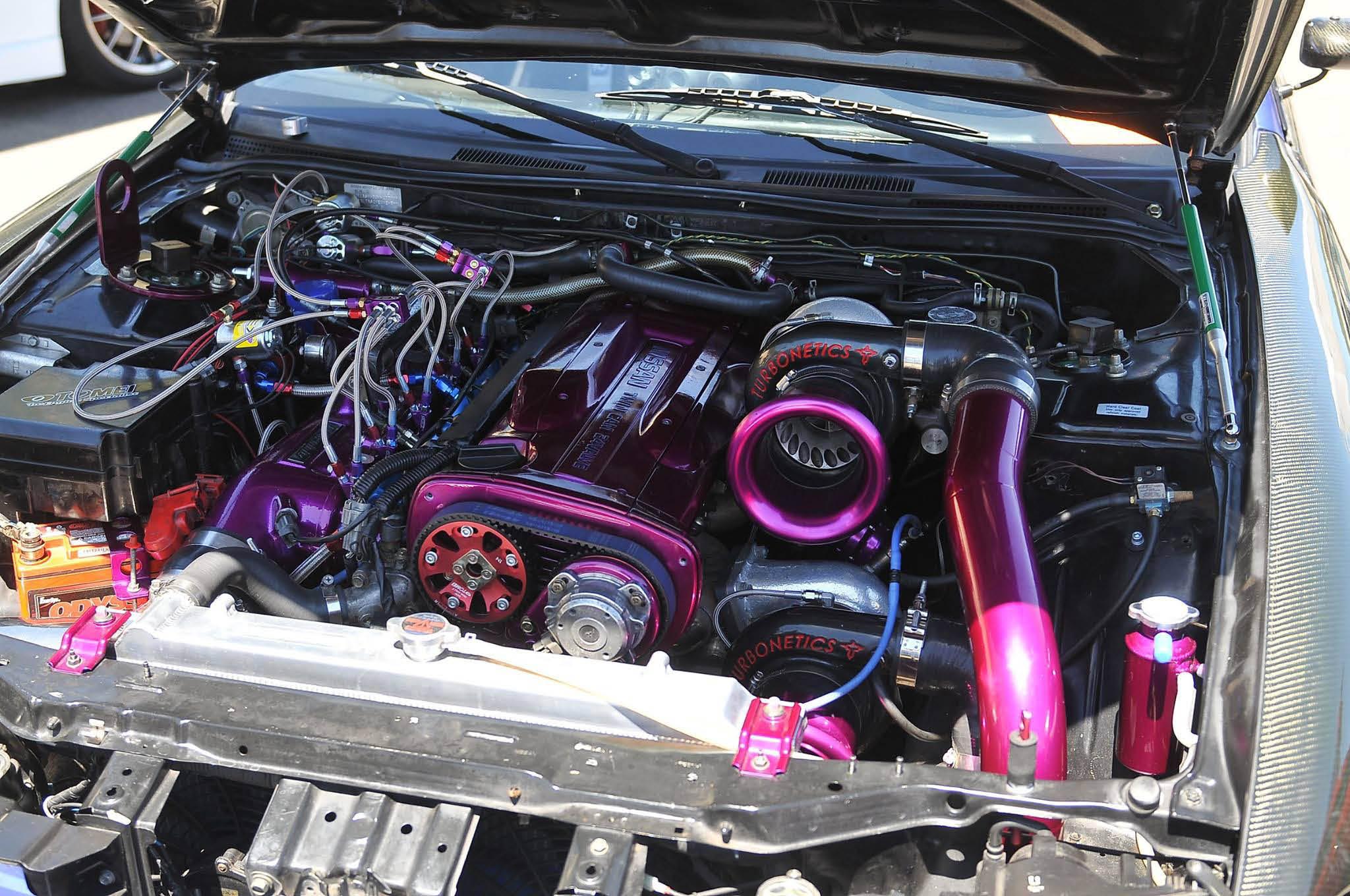 classic car engine car show