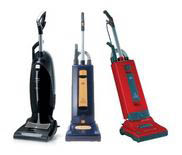 photo of upright vacuum cleaners from Bank's Vacuum stores