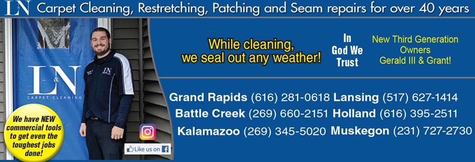 carpet cleaning grand rapids battle creek lansing kalamazoo holland muskegon l&n