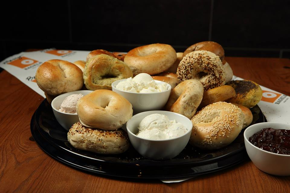 freshly baked bagels catering