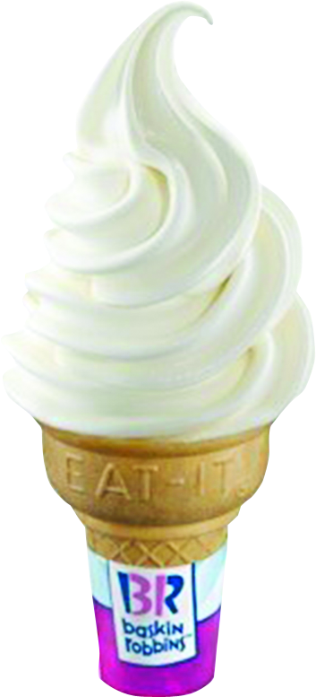 Baskin Robbins ice cream cone at our Parkville location