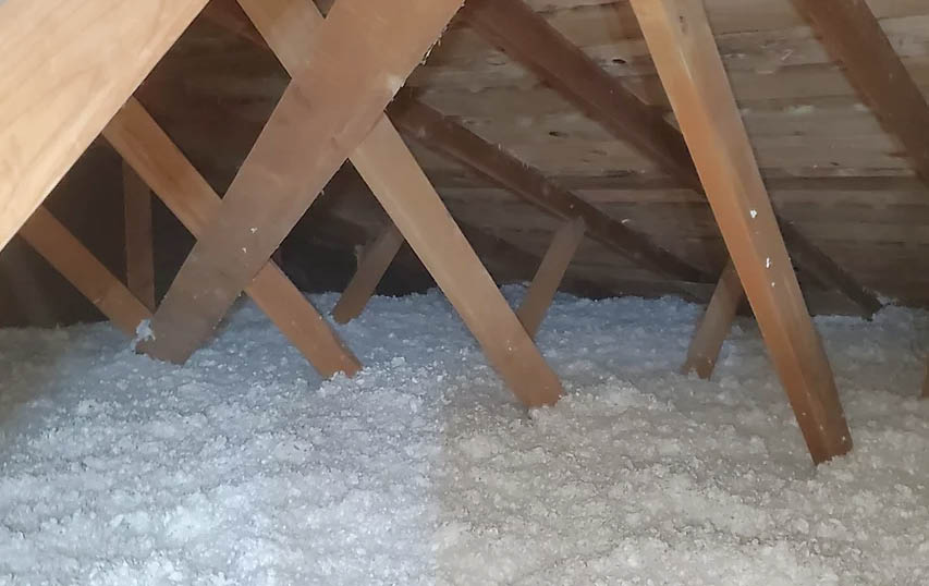 Attic blown-in insulation installed by Batt-Man Insulation serving the south Puget Sound - insulation experts near me - Attic insulation installation - crawl space insulation installation