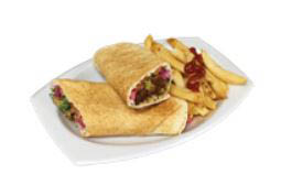 Beef Kabob Sandwich at Raouche Cafe in Falls Chruch VA