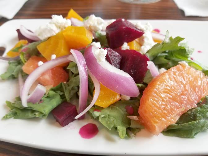 grapefruit beet salad restaurant bellingham