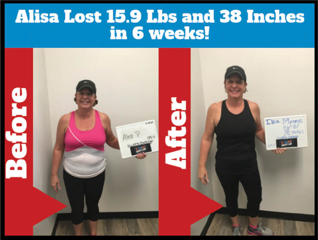 before and after weight loss fitness