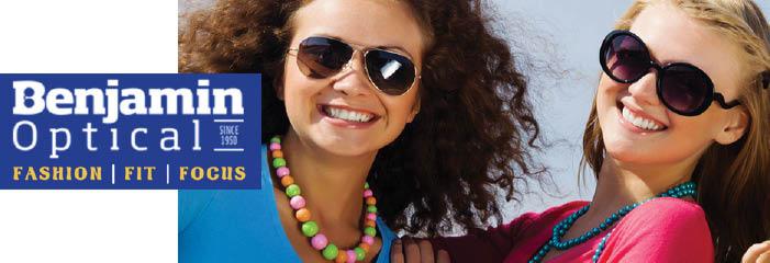 benjamin, optometrists, glasses, sunglasses, discounts, savings, fashion, contact lenses, eye exam