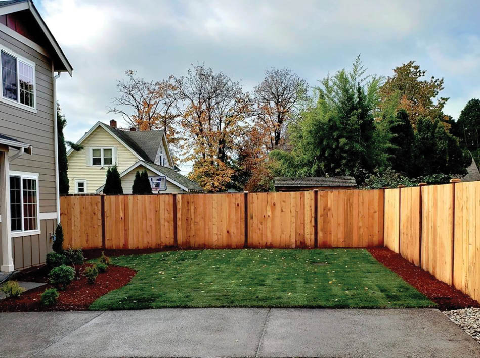 Wood fencing installed by Benny & Sons Landscaping - Spanaway, WA - install a fence - fence installation - fencing contractors near me