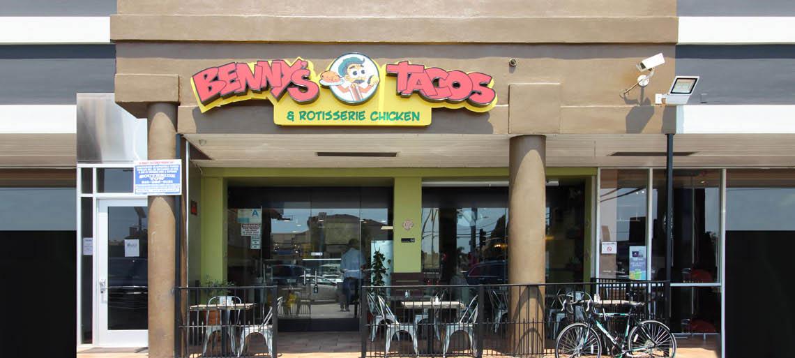 Benny's Tacos in Culver City, CA restaurant exterior