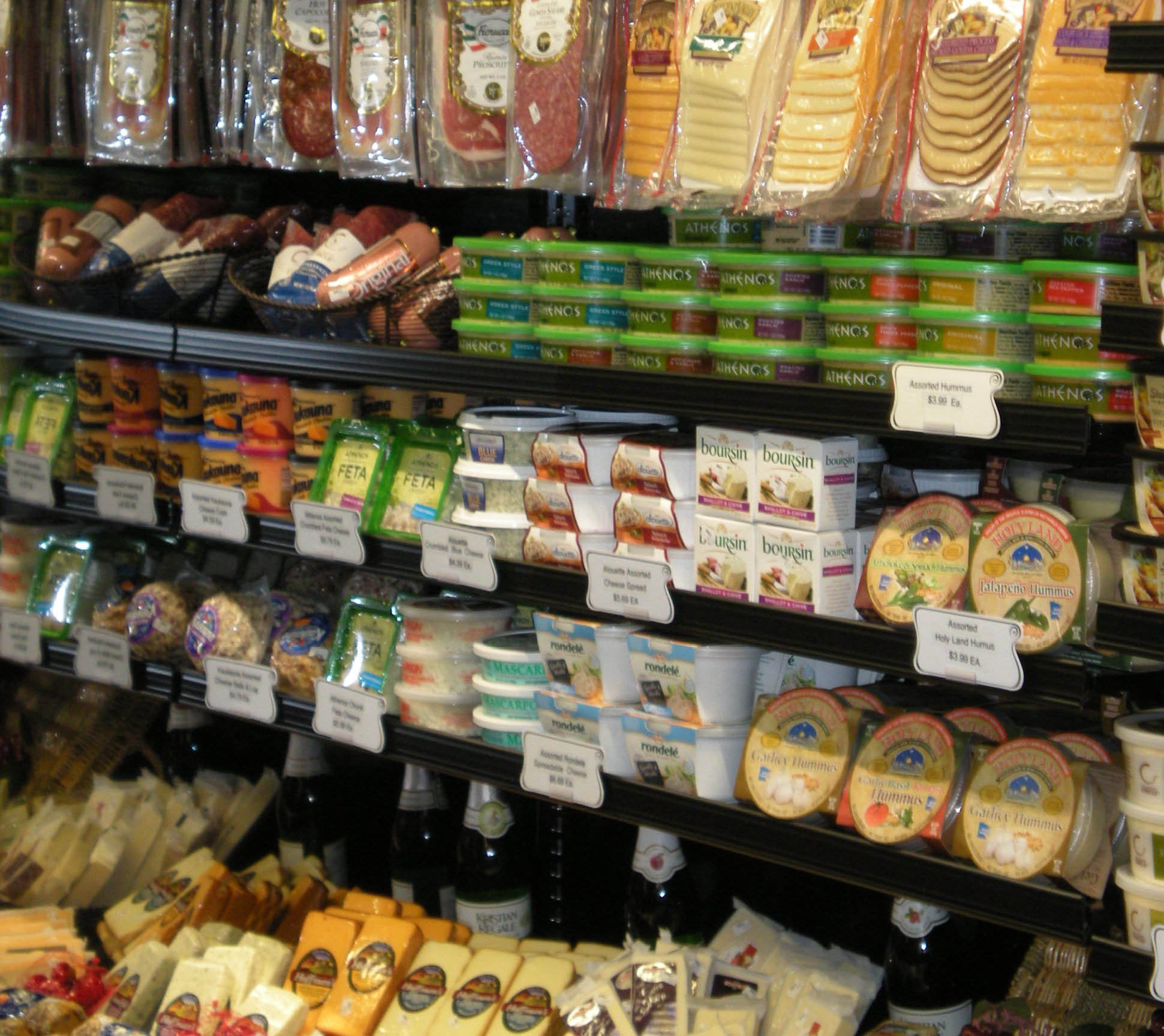 Deli featuring meats, cheeses and fresh salads