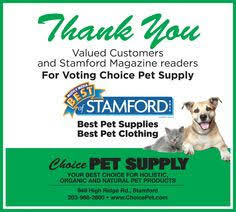 Best pet supplies, best pet food, best pet clothing in Stamford CT