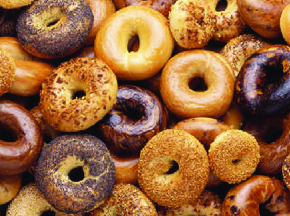 assorted bagels better on a bagel